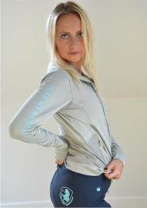 EQUESTRIAN QUEEN Bluza Edna damska light grey XL