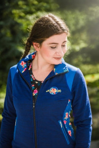 EQUESTRIAN QUEEN Bluza Jane ladies Kwiaty royal blue M
