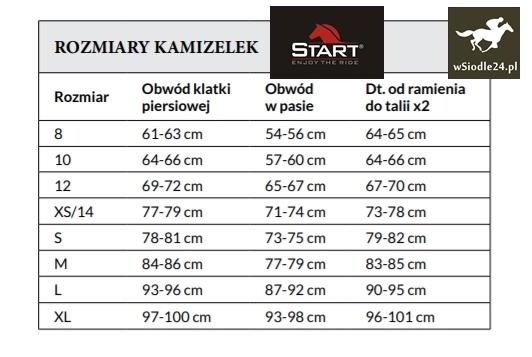 2d138d356e69b9 Tabela rozmiarów kamizelek ochronnych. Tutaj znajdziecie Państwo wymiary  kamizelek ochronnych :)